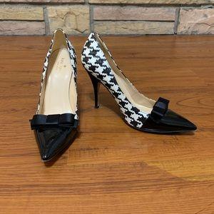 Kate Spade hounds tooth heels